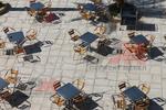 Метална маса за открити басейни