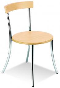 Кафе стол ANCA wood chrome