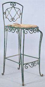 Бар стол от ковано желязо с облегалка