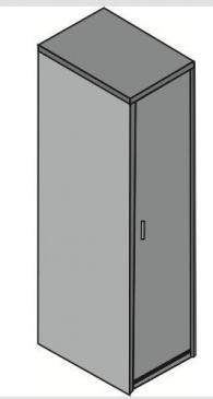 Офис гардероб с една врата