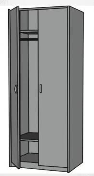 Гардероб с 2 рафта